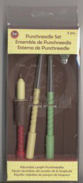 Wrights Punchneedle: Set of 3 different size punches