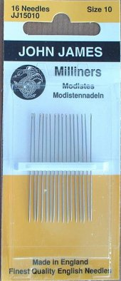Needles, Milliners size 10