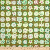 Button flowers - green