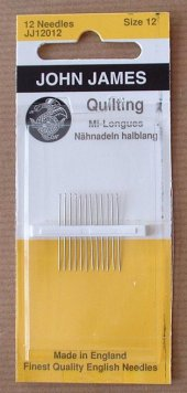 Needles, Quilting size 12