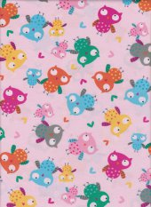Owls with pink background
