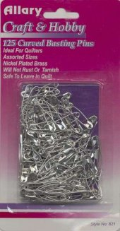 Curved Safety Pins size 1 and 2