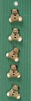 Hand made Ceramic Buttons - teddy bears