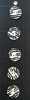 Hand made Ceramic Buttons - zebra stripes