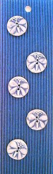 Hand made Ceramic Buttons - butterflies blue